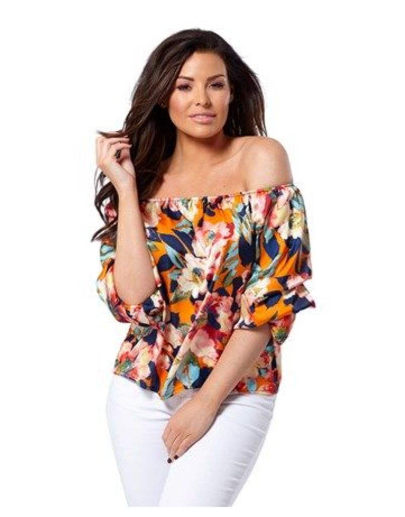 Jessica Wright Floral Off The Shoulder Top