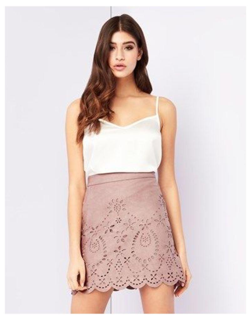 Lipsy Laser Suedette Mini Skirt