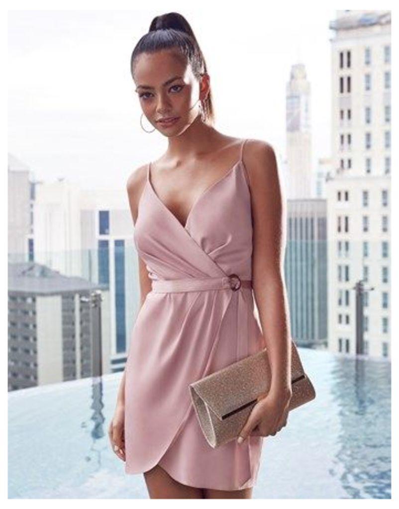 Lipsy Wrap Over Mini Dress