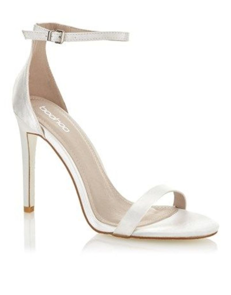 Boohoo Glitter Barely There Sandals