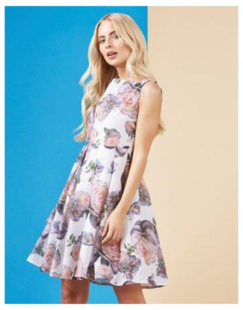 Mela London Rose Print Skater Dress