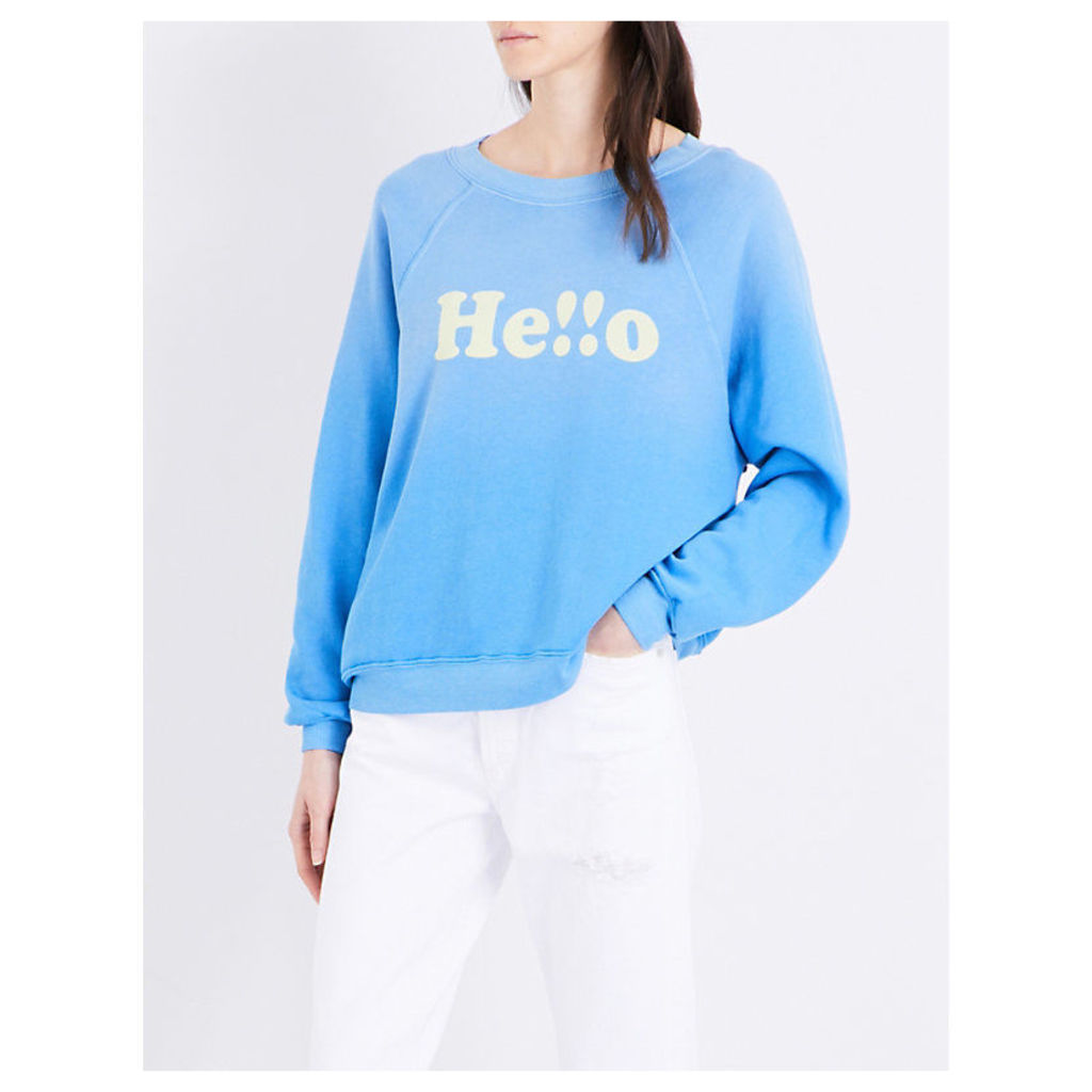 Hello printed cotton-jersey sweatshirt