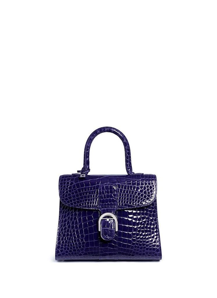 'Brillant MM' alligator leather satchel