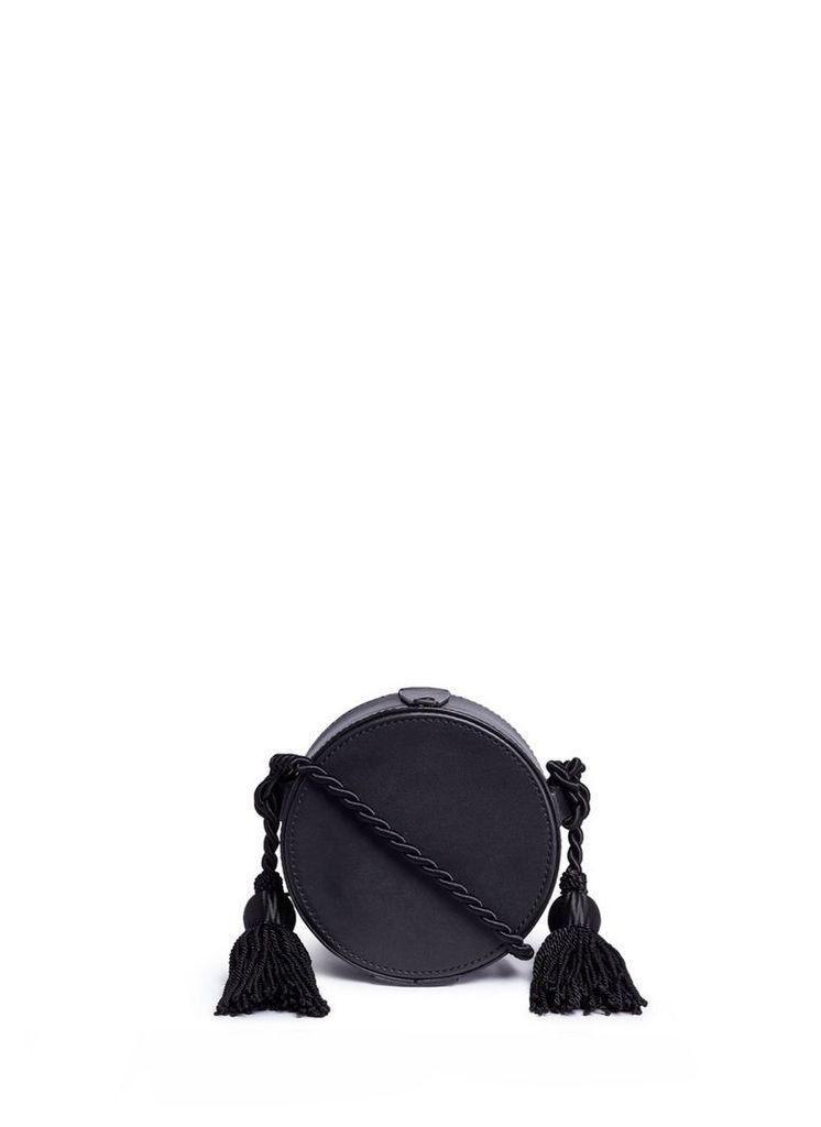 'Tasselled Collar Box' leather bag