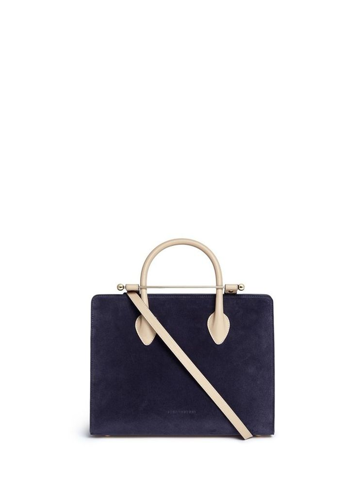 'The Strathberry Midi' suede and leather tote