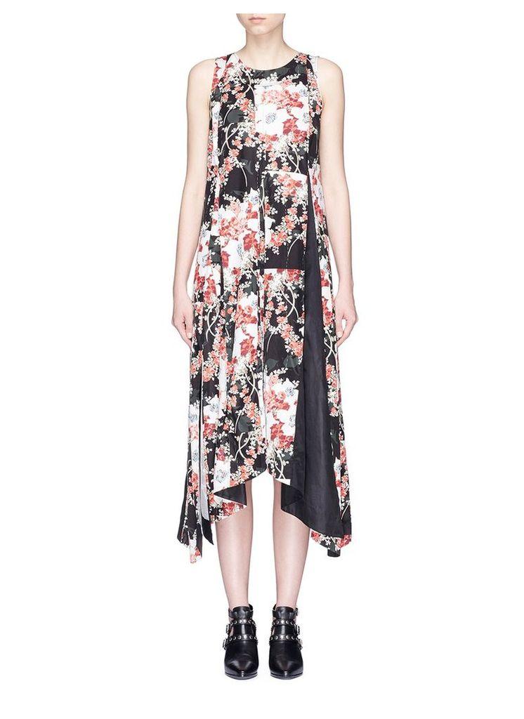 'Otilia' floral print godet dress