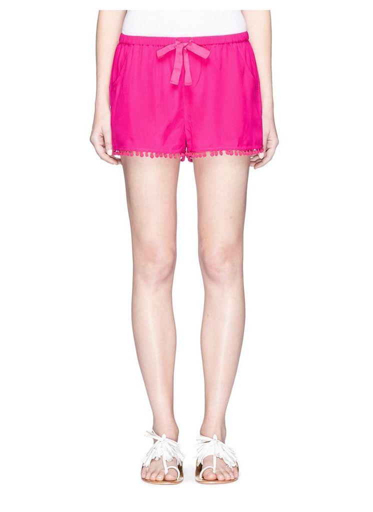 'Maja' pompom silk shorts