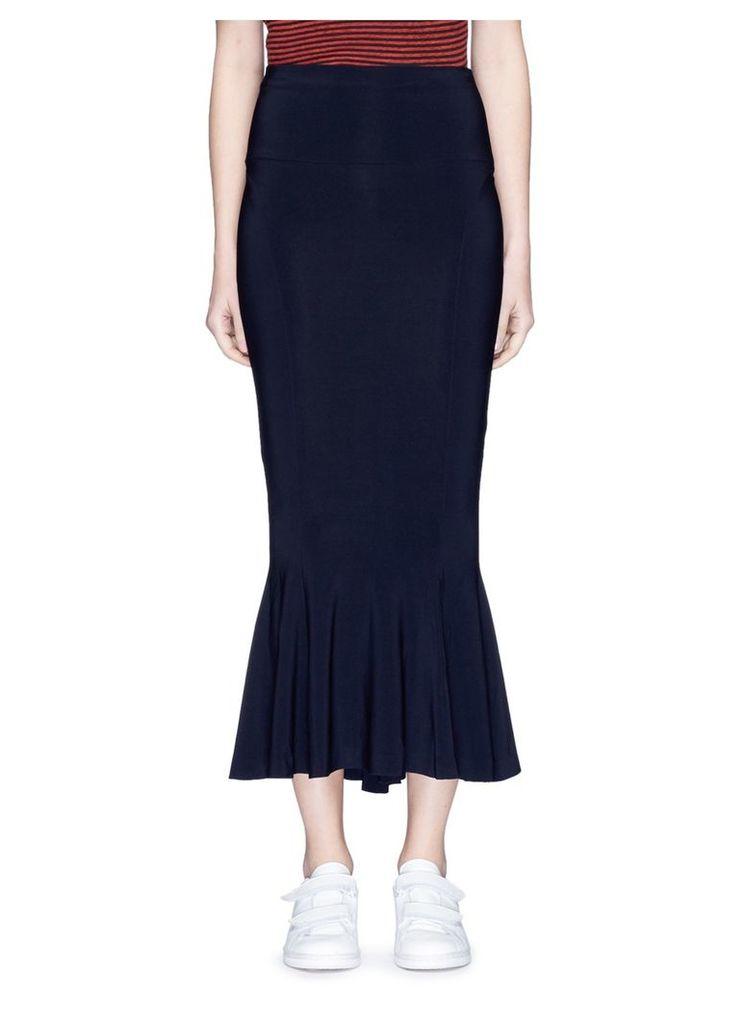 Jersey fishtail midi skirt