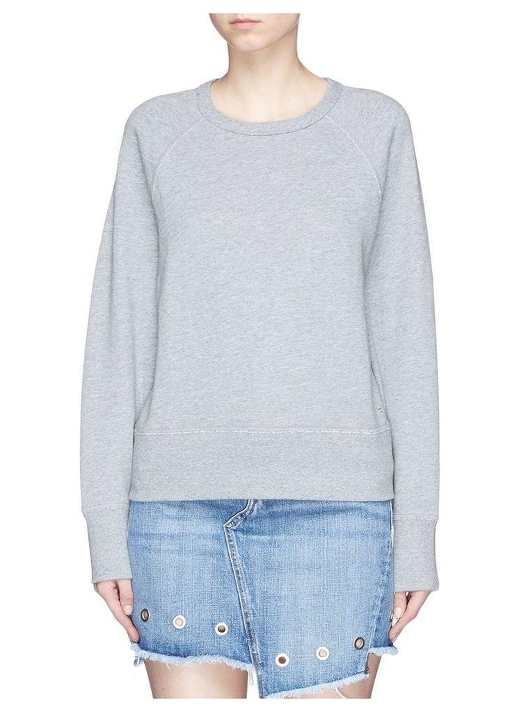 'New York City' print French terry sweatshirt