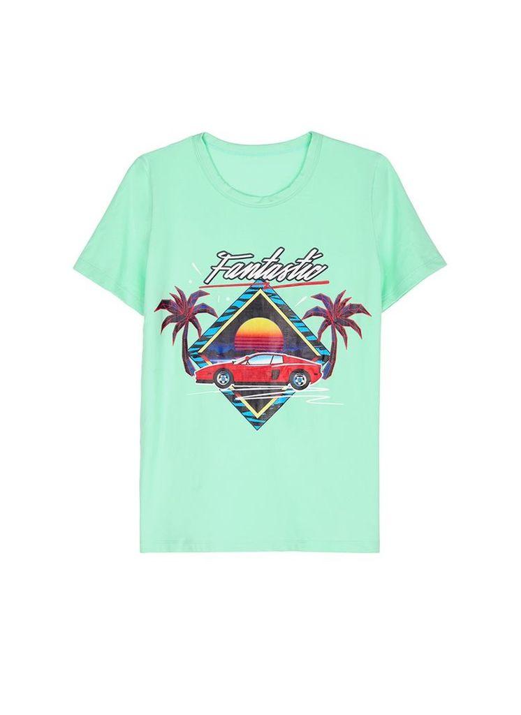 'Fantastic' sunset car print unisex T-shirt