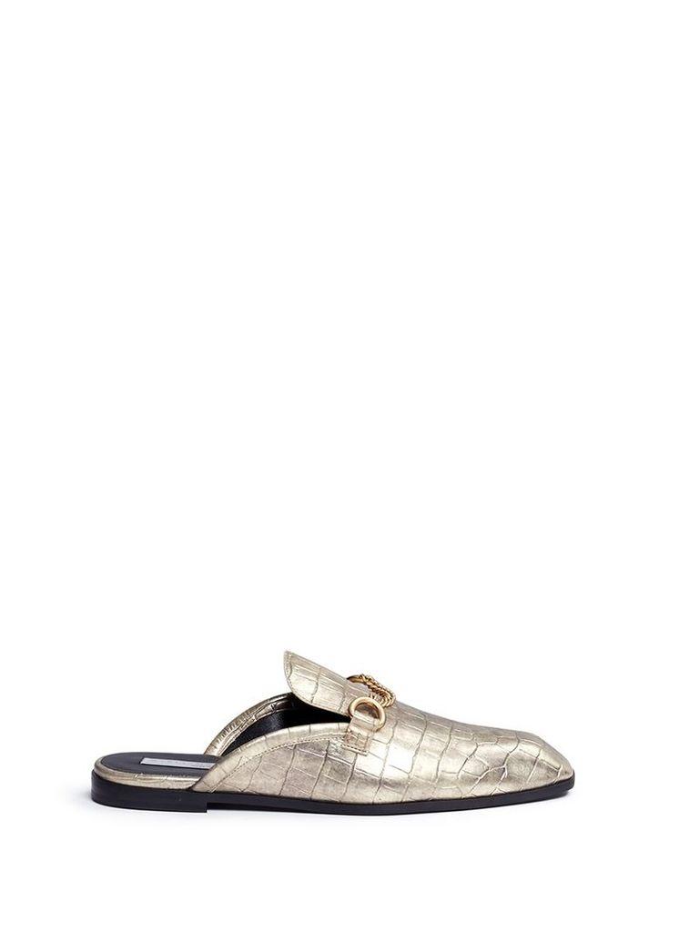 'Tanka' alter crocodile slide loafers