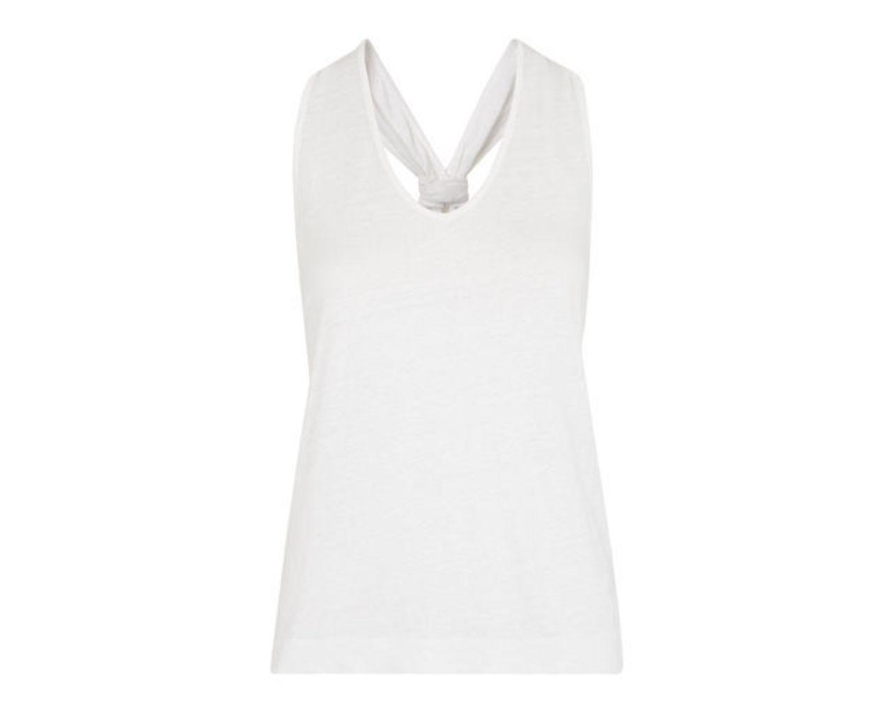 Knot Back Linen Vest