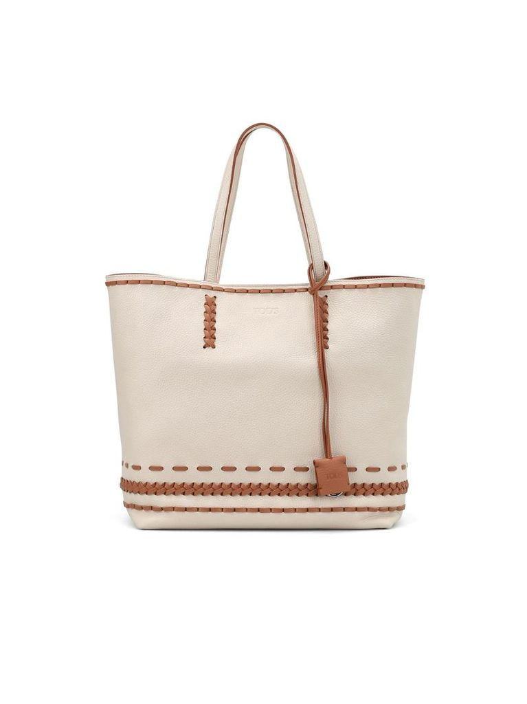 Gipsy Woven Detailed Two-tone Tote