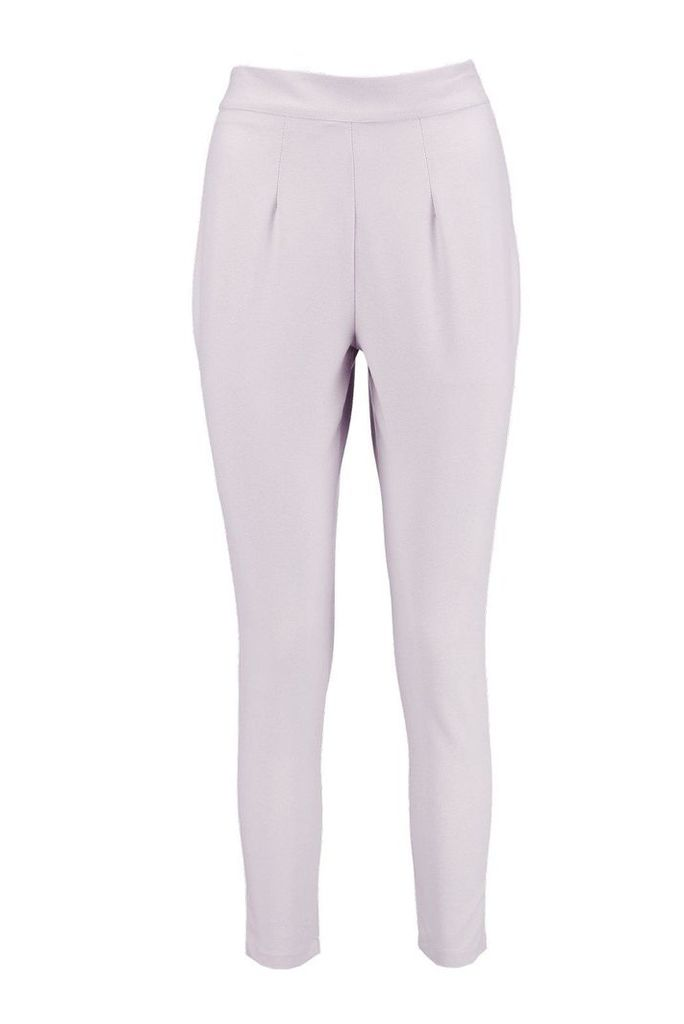Carly Side Zip Tailored Trouser - grey