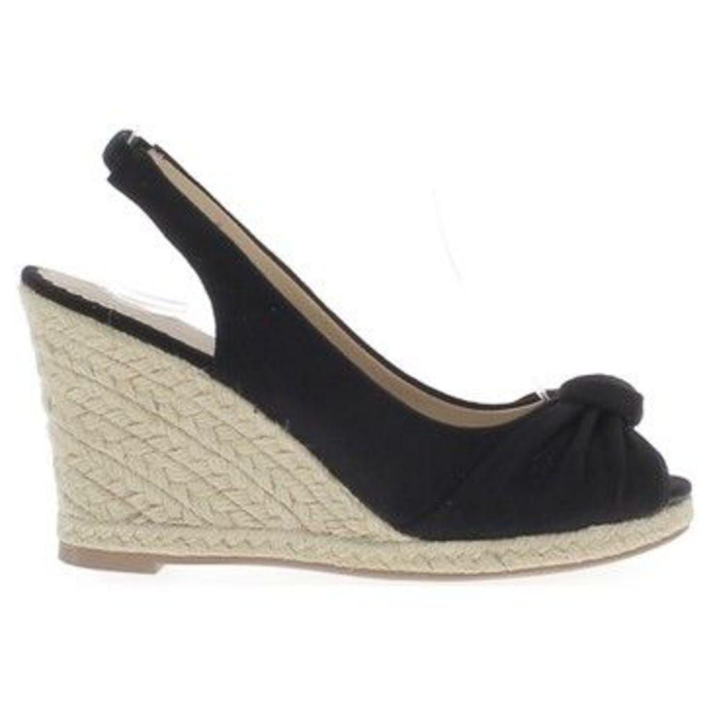 Chaussmoi  Sneakers heels 10cm aspect suede black compensated women sandals  women's Sandals in Black