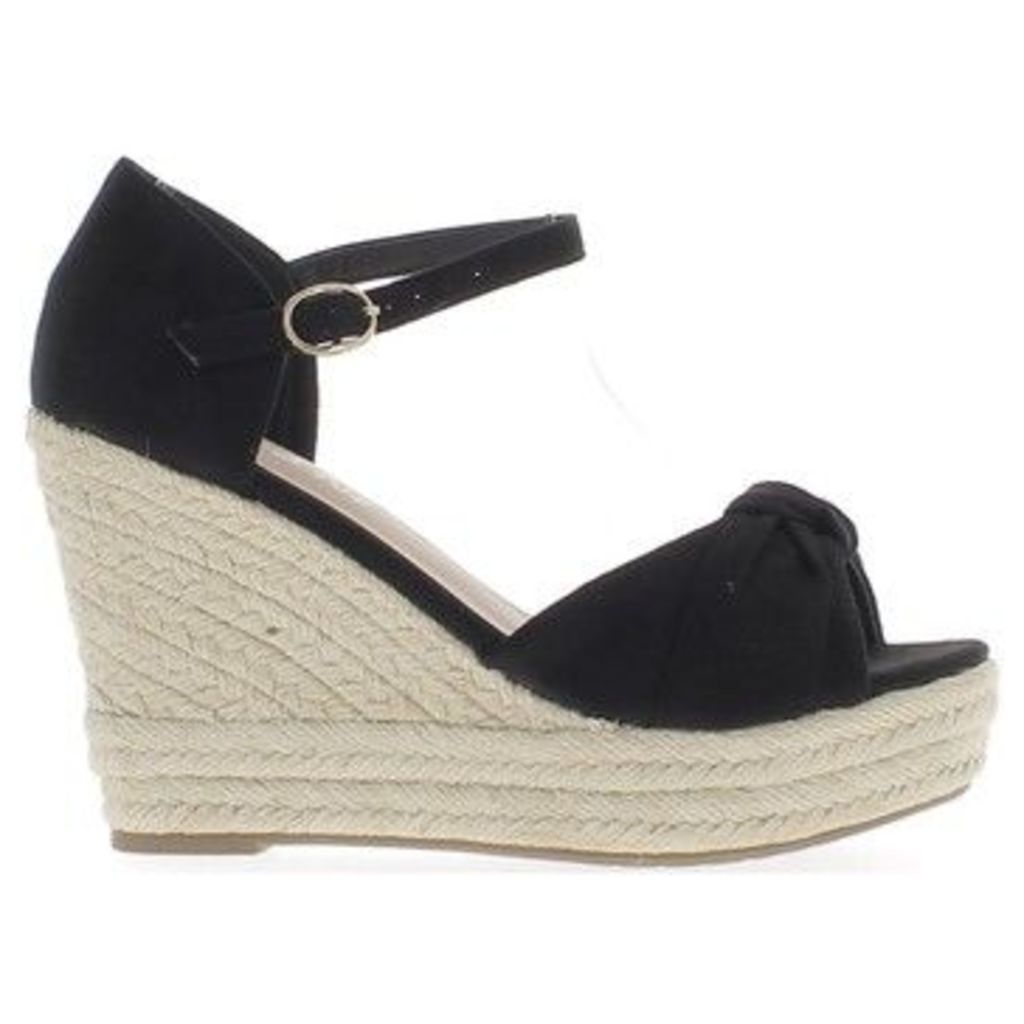 Chaussmoi  Black woman sneakers to 10.5 cm and 3 cm platform wedge heel  women's Sandals in Black