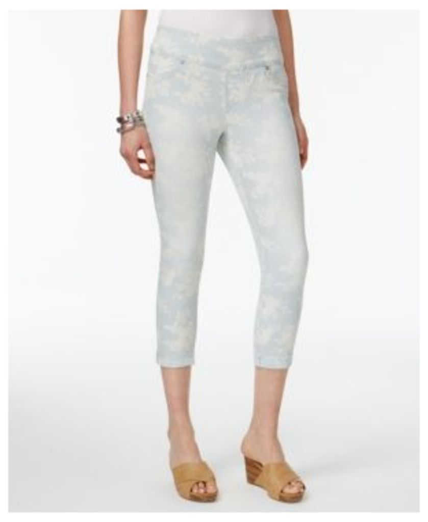 Style & Co Petite Ella Printed Cropped Boyfriend Jeans, Only at Macy's