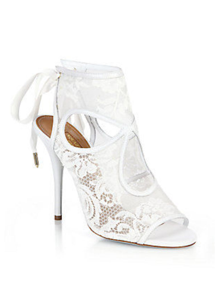 Sexy Thing Bridal Lace Mesh Booties