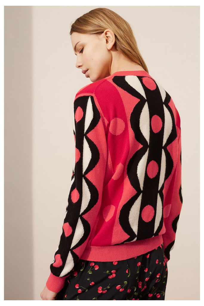 NEW Coral Scalloped Cashmere Sweater