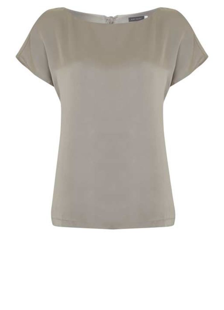 Oyster Bow Back Silk Top