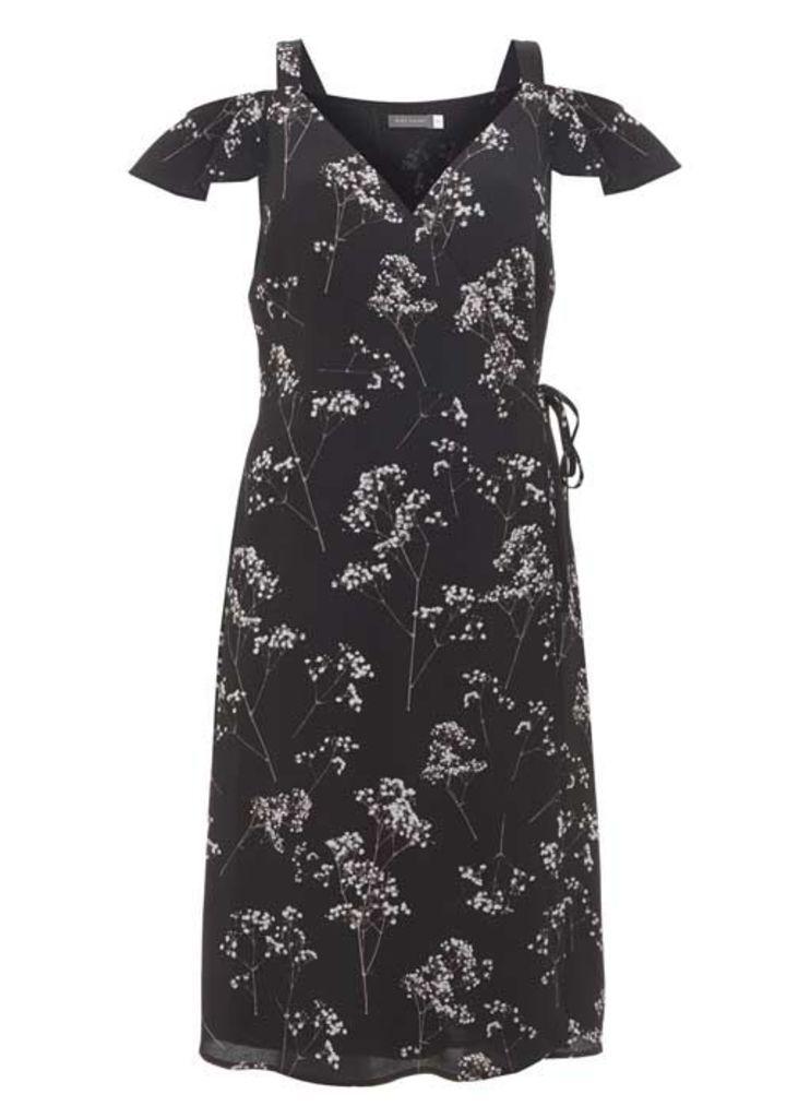Erika print Ruffle Wrap Dress