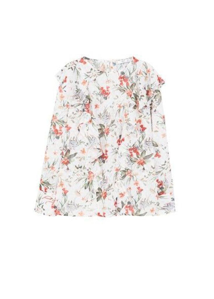 Ruffles floral blouse