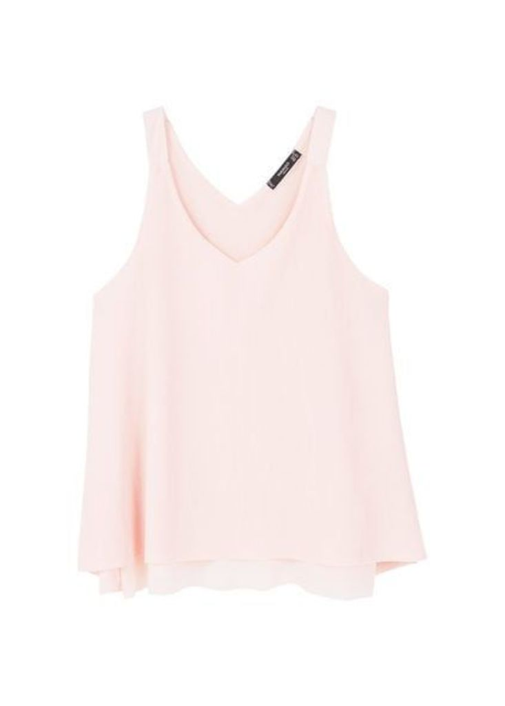 Pleated strap top