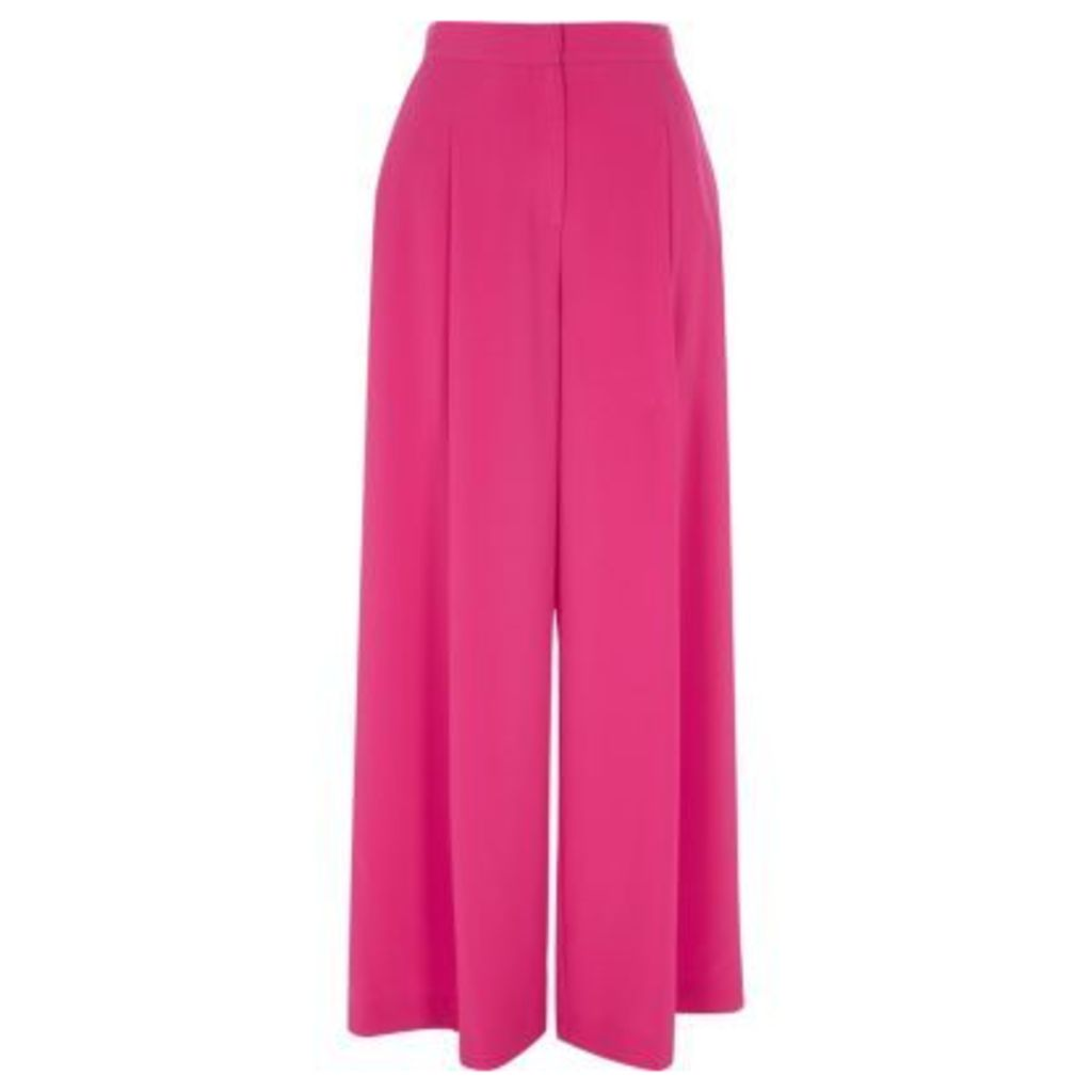 River Island Womens Pink wide leg trousers