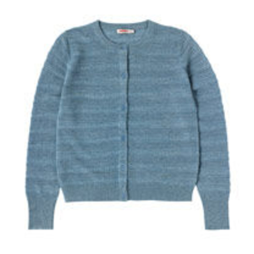 Wool Blend Vintage Stitch Cardigan