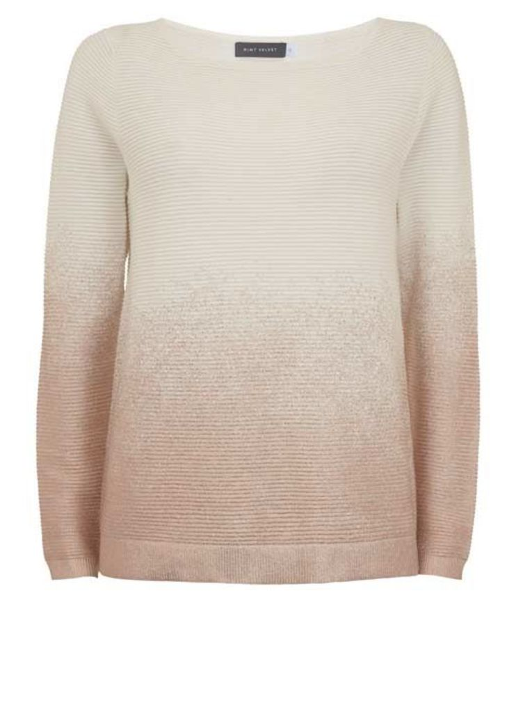 Rose Gold Metallic Ombre Knit