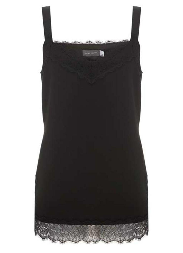 Black Lace Trim Cami