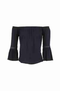 Tulip Sleeve Bardot Top