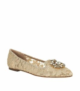 Embellished Lace Vally Flats