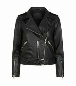 Leather Balfern Biker Jacket