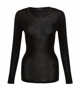 Pure Silk Long Sleeve Top