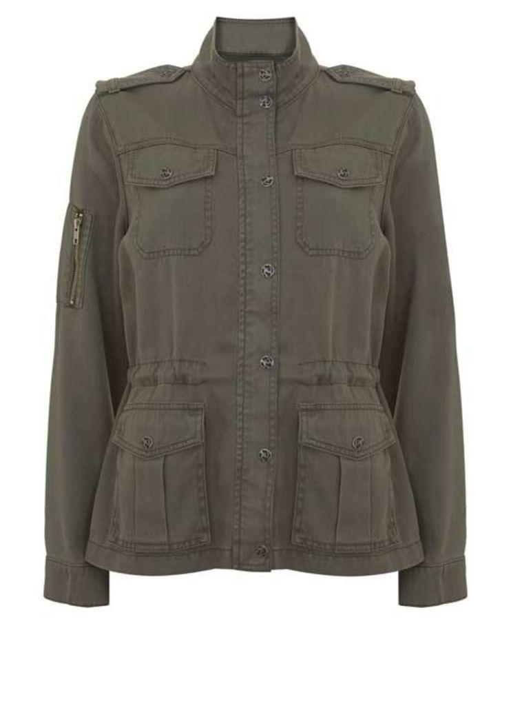 Khaki Pocket Detail Jacket