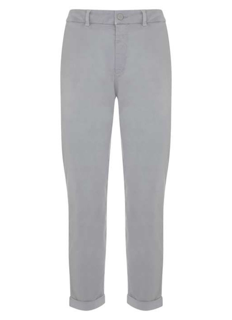 Stone Casual Turn Up Trouser