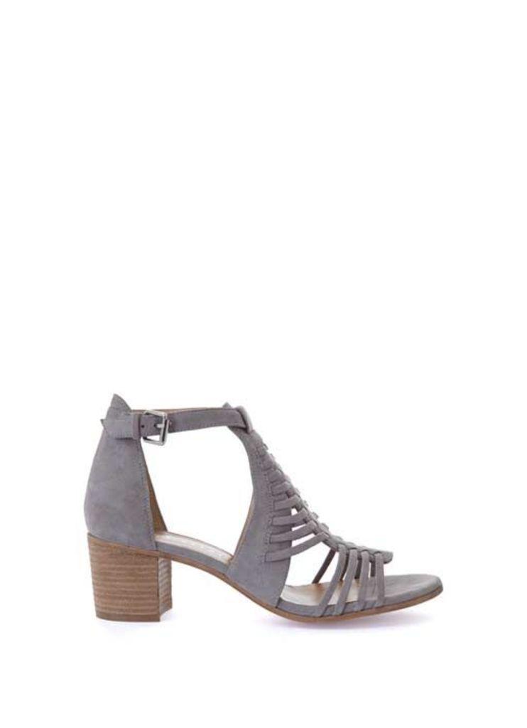 Grey Robyn Caged Low Sandal