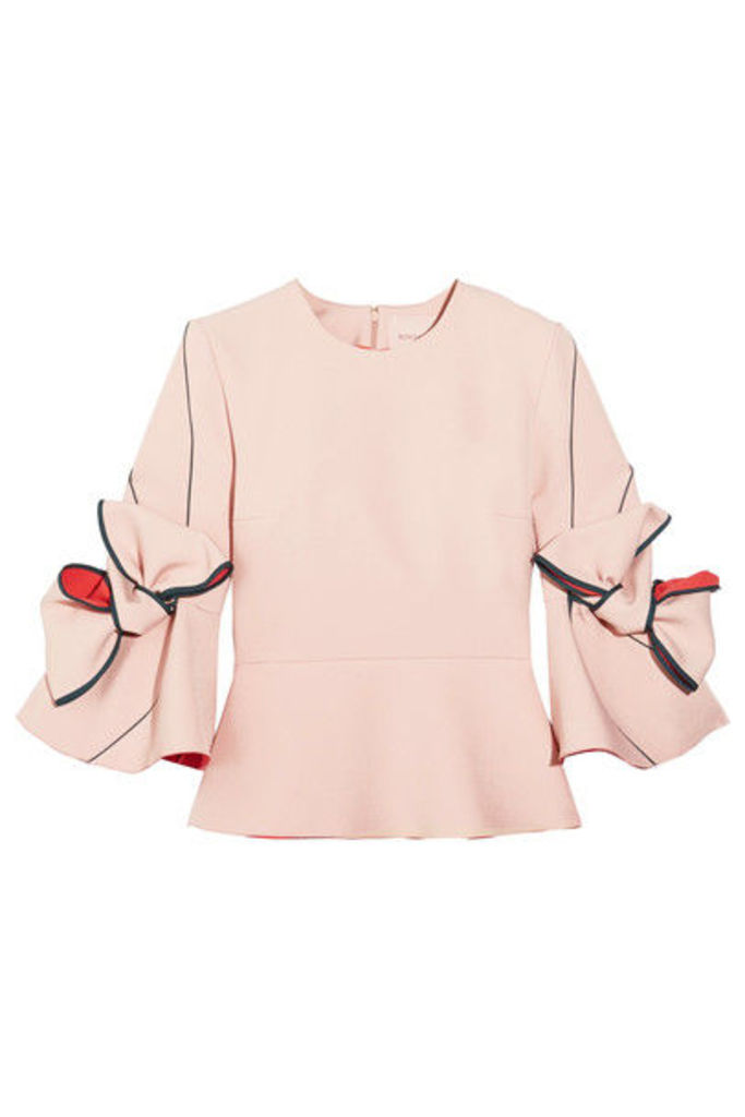 Roksanda - Kemi Bow-embellished Crepe Top - Pastel pink