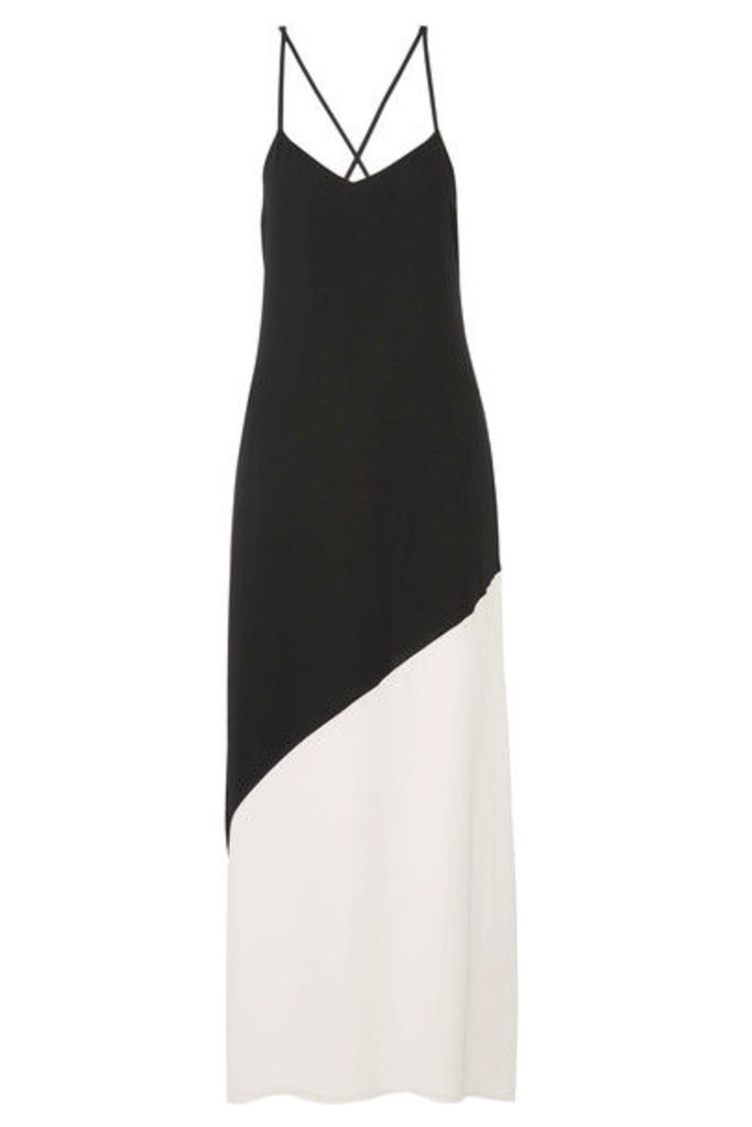 Alice + Olivia - Maggie Two-tone Crepe Maxi Dress - Black