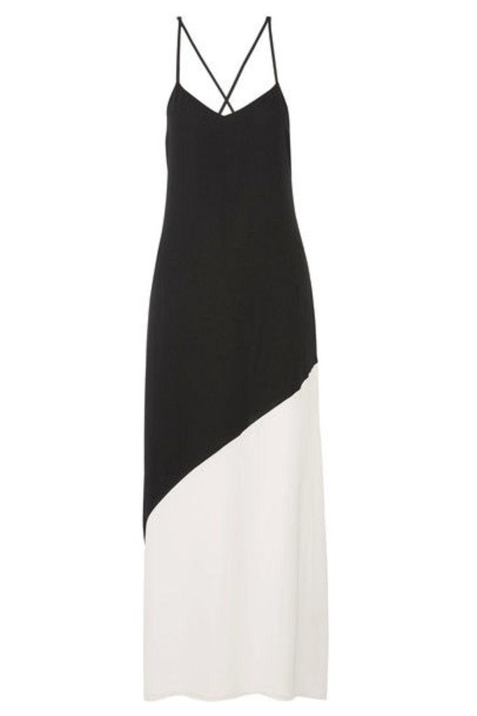 Alice + Olivia - Maggie Two-tone Crepe Maxi Dress - Black