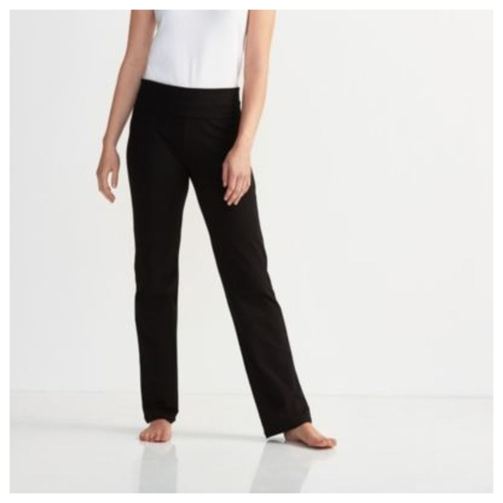 Straight Leg Roll Top Trousers