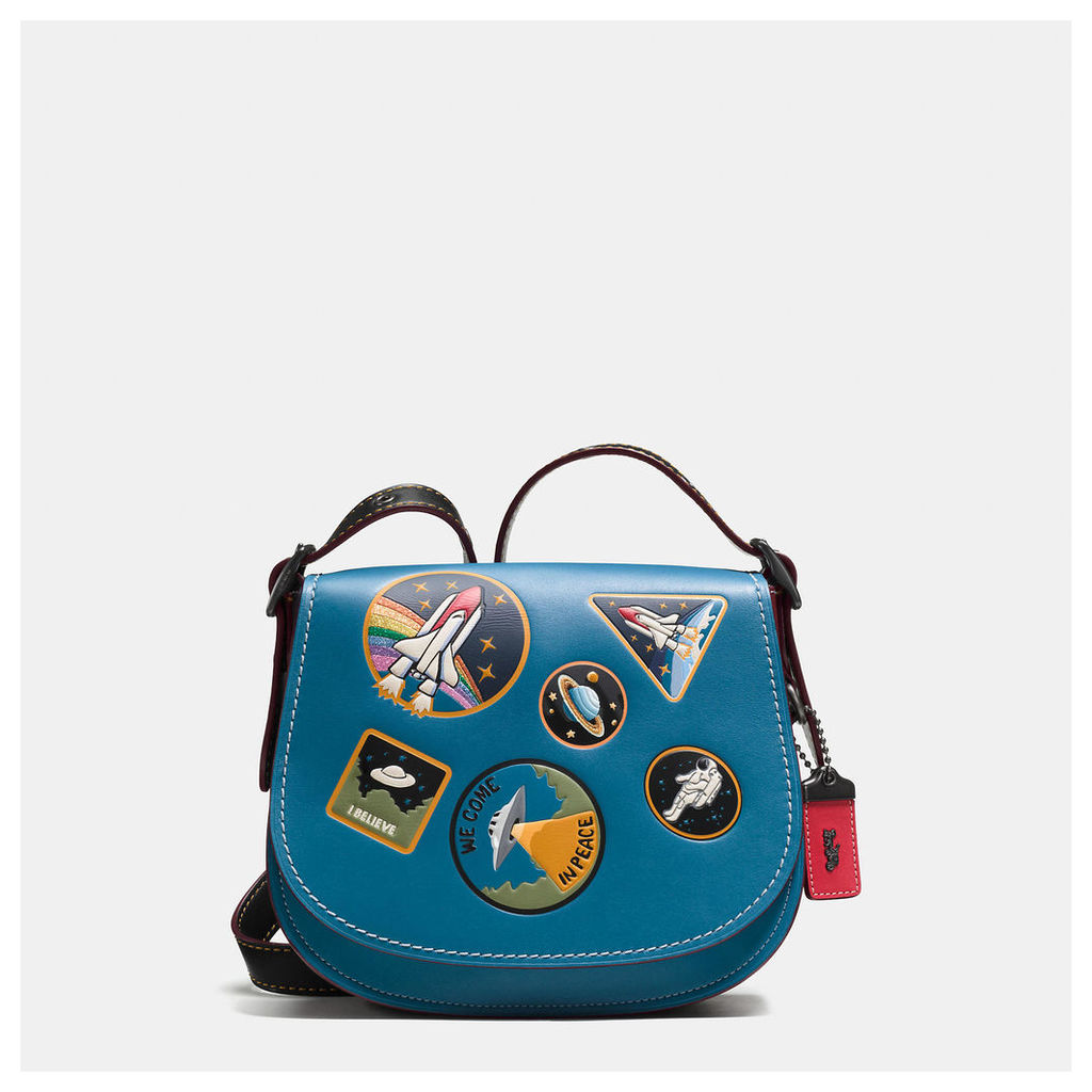 Coach Saddle 23 In Glovetanned Leather With Space Patches