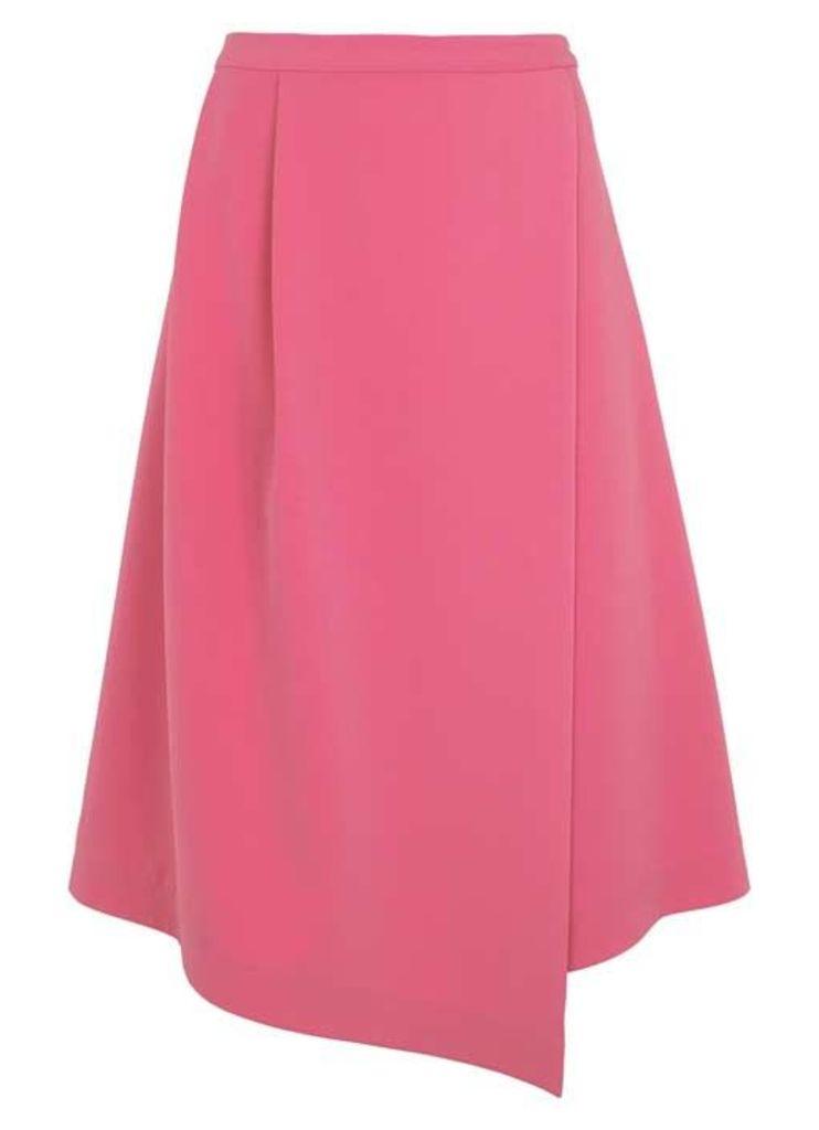 Flamingo Fluted Midi Skirt