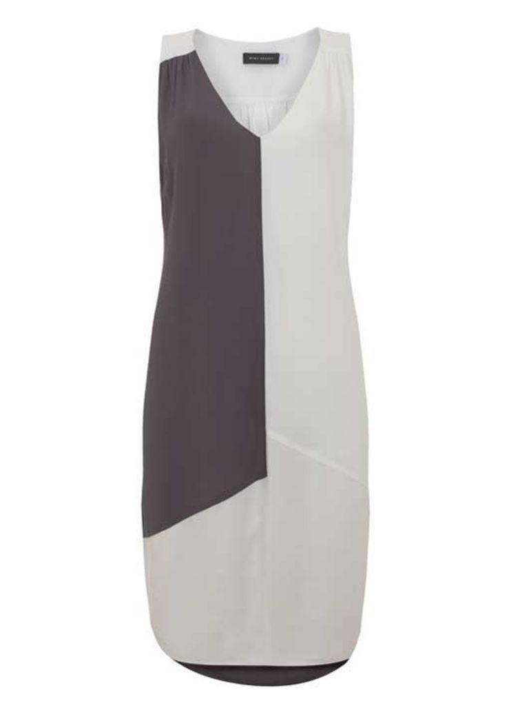 Ivory & Smoke Block Hook Up Dress