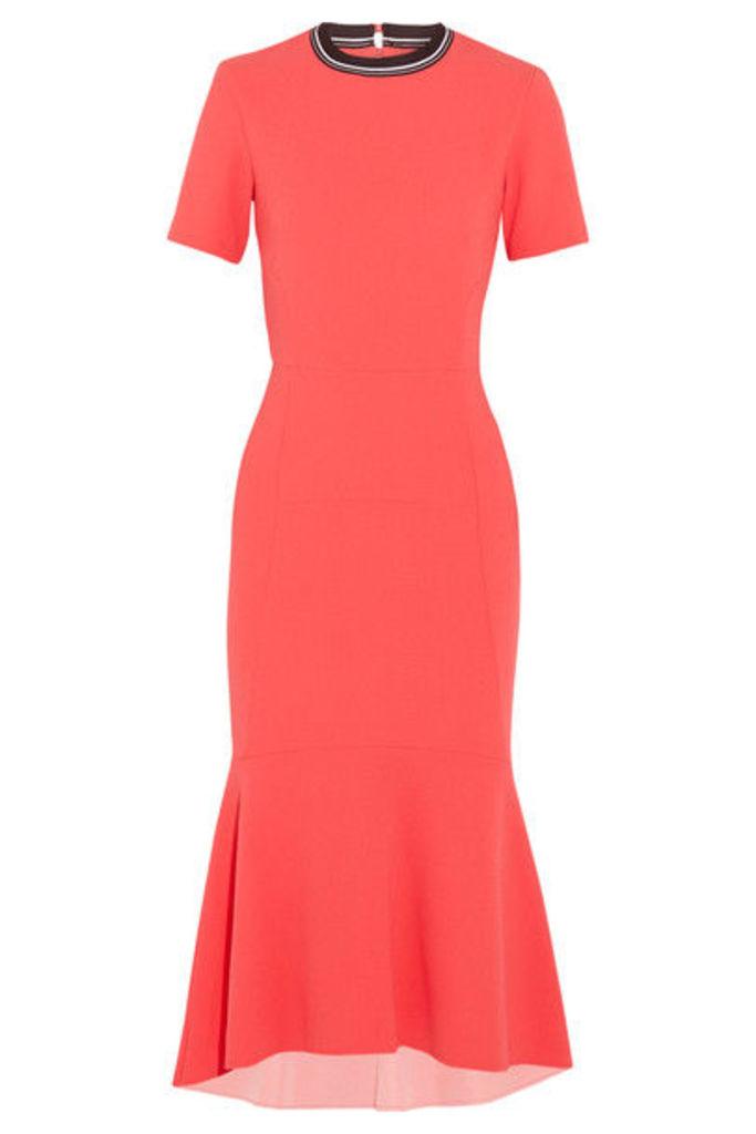 Rebecca Vallance - Breakers Open-back Cloqué Midi Dress - Red
