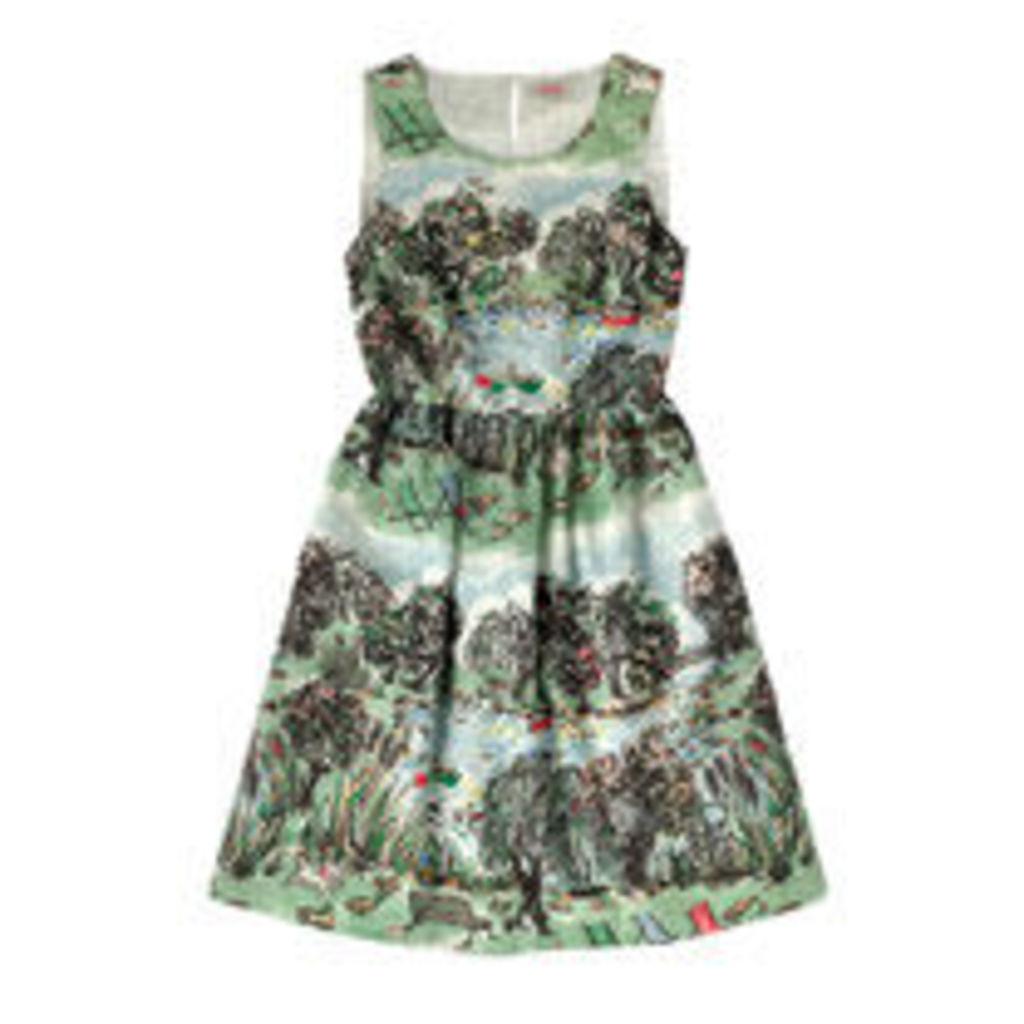 London Park Sleeveless Cotton Dress