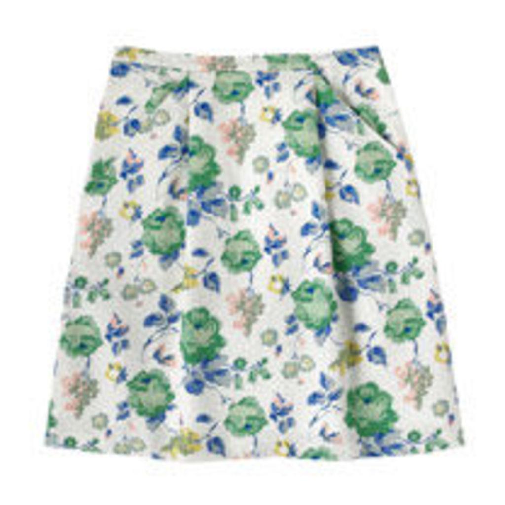 Regent's Rose Cotton Texture Skirt