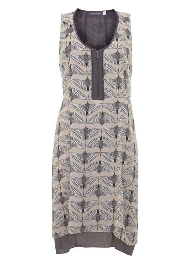 Tess Print Fluted Dress