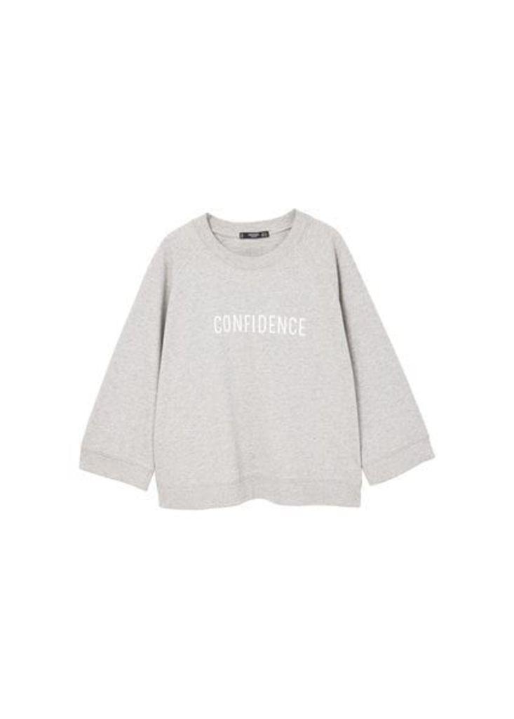 Cotton-blend message sweatshirt